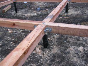 Пример деревянного ростверка