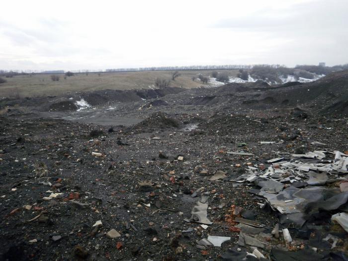 Третий тип насыпных грунтов - места выгрузки отходов.