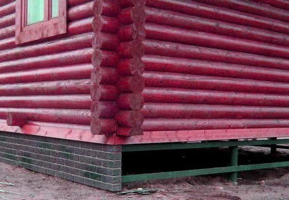 Пример закрытия свайного фундамента навесными конструкциями.