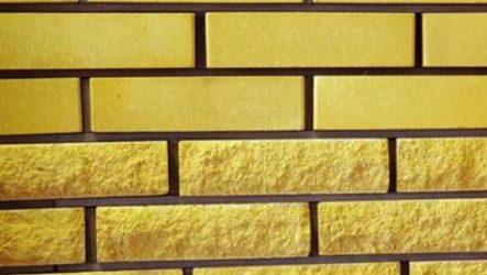 Желтый облицовочный кирпич