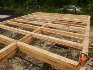 Классический двутавровый фундамент в деревянном исполнении.