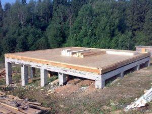 Пример бетонированного ростверка.